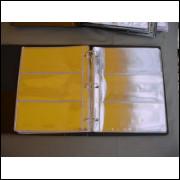 *Álbum para 150 cédulas. Capa com 50 folhas pvc.