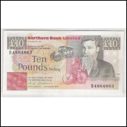 Irlanda do Norte, 10 Pounds, 1988, mbc-s, P.194a.