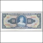 C026 - 50 Cruzeiros, 1956, Valor Recebido, Claudionor S. Lemos - Lucas Lopes, fe. Princesa Isabel.