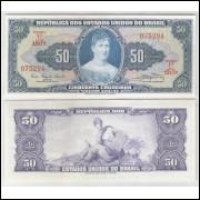 C028 - 50 Cruzeiros, 1961, Valor Legal, Carlos A. Carrilho - Clemente Mariani, fe. Princesa Isabel.