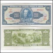 C042 - 200 Cruzeiros, 1964, Valor Legal, Reginaldo F. Nunes - O. G. de Bulhões, s-fe. D.Pedro I.