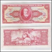 C096 - 100 Cruzeiros 1963 Estampa 2a Valor Legal, Reginaldo F. Nunes-Miguel Calmon, fe.Dom Pedro II