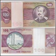 C147 - 100 Cruzeiros, 1981, Ernane Galvêas e Carlos P. Langoni, fe. Floriano Peixoto