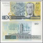 C187 - 100 Cruzados, 1987, L. C. Bresser Pereira e Fernando M. Oliveira, fe. Juscelino Kubitschek.