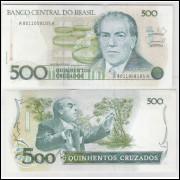 C192 - 500 Cruzados, 1988, Maílson da Nóbrega e Elmo Camões, fe. Villa Lobos.