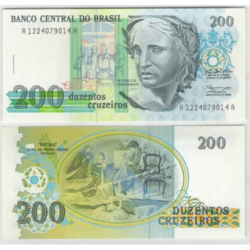 C215 - 200 Cruzeiros, 1990, fe. Comemorativa: Centenário da República