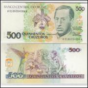C216 - 500 Cruzeiros, 1990, Zélia Cardoso de Mello e Ibrahim Éris, fe. Augusto Ruschi.