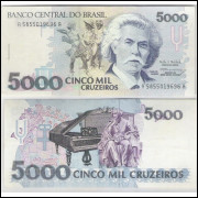 C221 - 5.000 Cruzeiros, 1993, Paulo R. Haddad e Gustavo Loyola, soberba. Carlos Gomes.