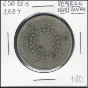 1894 - 200 Réis, reverso horizontal, bc.