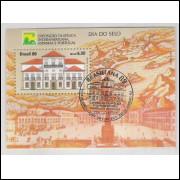 B-081 - 1989 - Dia do Selo. Exposição Filatélica Interamericana. Paço Imperial. Carimbo Comemorativo