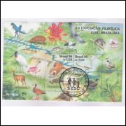 B-101 - 1995 - Lubrapex - Exposição Filatélica. Rio Tietê. Fauna e Flora. Carimbo Comemorativo