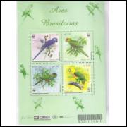 B-119 - 2001 - Aves Brasileiras. Arara-Azul-Grande; Jandaia; Fura-Mato e Papagaio-Galego. Fauna.