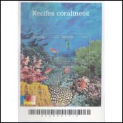 B-125 - 2002 - Recifes Coralíneos. Corais, peixe, vida marinha,mar.