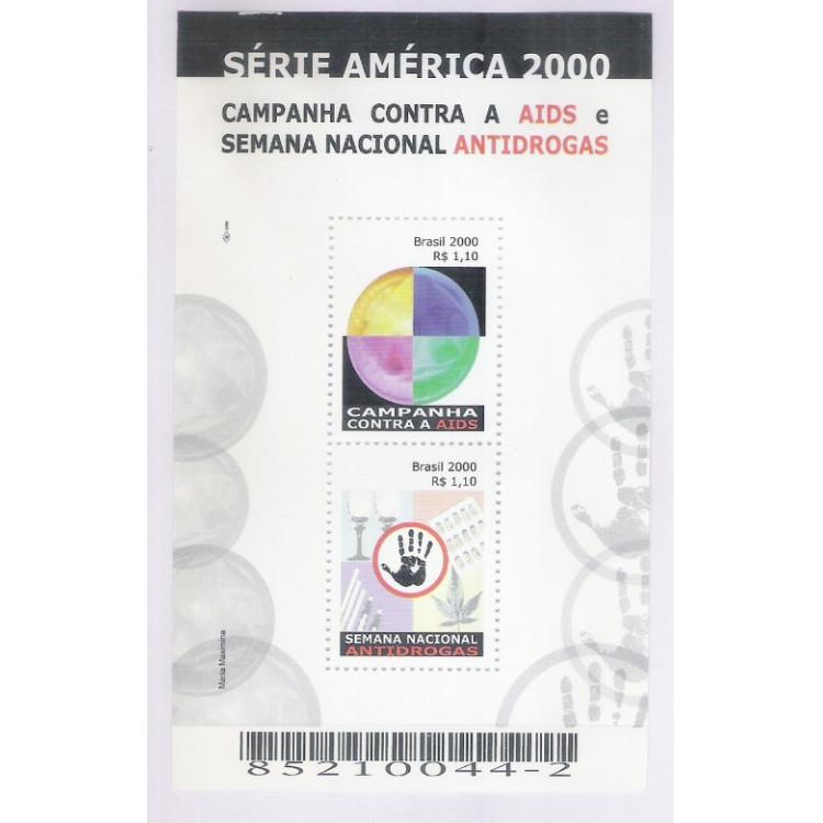B-116 - 2000 - Série América. Campanha contra Aids e Semana Nacional Antidrogas. Medicina.