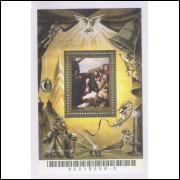 B-140 - 2005 - Natal. Adoração dos Pastores. Pintura. Religião.