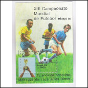 B-070 - 1985 - XIII Campeonato Mundial de Futebol - México-86. Copa do Mundo. Taça Jules Rimet.