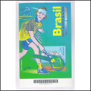 B-121 - 2001 - Brasil Tricampeão Roland Garros - Tenis - Gustavo Kuerten. Esporte.
