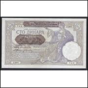 Sérvia (Ocupação Alemã na 2a Guerra) - P.23 - 100 Dinara, 1941, soberba.