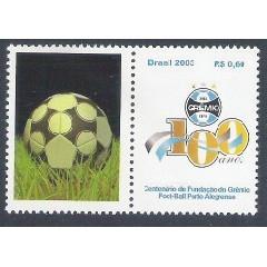 C-2542 - 2003 Selo Personalizado - Centenário da fundação do Grêmio. Futebol.
