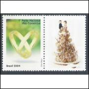 C-2559 - 2004 Selo Personalizado - Aliança. 1o porte nacional não comercial.
