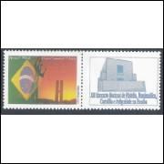 C-2584 - 2004 Selo Personalizado - Carta comercial, 1o porte. Bandeira e Brasília.