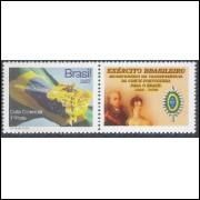 C-2677 - 2007 Selo Personalizado - Bandeira e Ipê. Flora. Carta comercial, 1o porte.