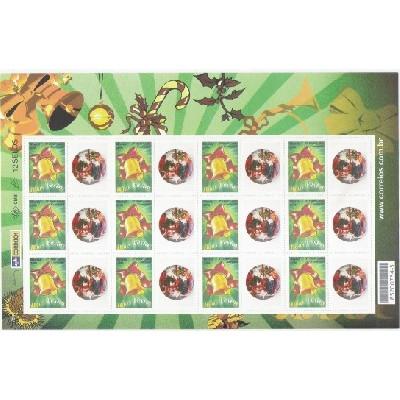 C-2663 - 2006 Selo Personalizado - Folha - Boas Festas. Sino, Natal. Carta comercial, 1o porte.