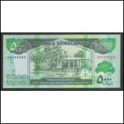 Somalilândia - (nova) 5000 Somaliland Shillings, 2012, fe. Fauna, camelos.