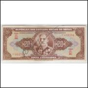 C083 - 20 Cruzeiros, 1950, estampa 2a, Autografada, Valor Recebido, Série 58, s++. Marechal Deodoro