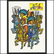 max052B - 1977 Folclore Brasileiro - Combate. Carimbo Comemorativo e 1o Dia -  Maceió-AL.