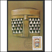 max044 - 1976  - Cultura Indígena - Máscara. Carimbo 1o Dia - São Paulo-SP.