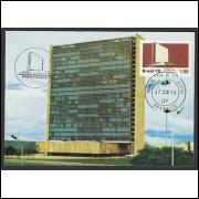 max057 - 1978  - Edifício Sede da ECT. Arquitetura. Carimbo Comemorativo e 1o Dia - Brasília-DF