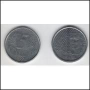 1997 - 5 Centavos, mbc, aço.