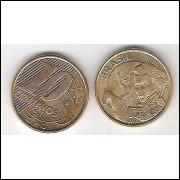2010 - 10 Centavos, s-fc, aço revestido de cobre.