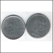 1994 - 50 Centavos, mbc-s, aço.