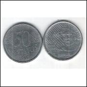 1995 - 50 Centavos, mbc-s, aço.