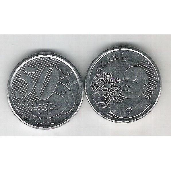 2007 - 50 Centavos, soberba (s), aço. Barão do Rio Branco.