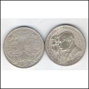 1922 - 2000 Réis, prata, soberba (s), Comemorativa, Centenário da Independência. Personalidades