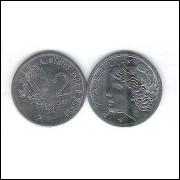 1975 - 2 Centavos, fc, Comemorativa, Alimentos para o Mundo - FAO. Soja.