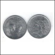 1975 - 5 Centavos, fc, Comemorativa, Alimentos para o Mundo - FAO. Carne.