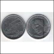 1989 - 1 Cruzado Novo, fc, Comemorativa, Centenário da República.