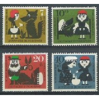 Alemanha, 1960, Literatura, Irmãos Grimm. Sem carimbo, com goma, mint. Yv. 213-216.