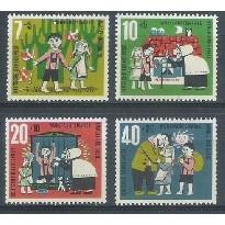 Alemanha, 1961, Literatura, Irmãos Grimm. Sem carimbo, com goma, mint. Yv. 241-244.