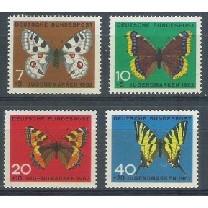 Alemanha, 1962, Pro-Juventude, borboletas. Sem carimbo, com goma, mint. Yv. 248-251.