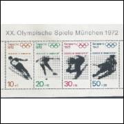 Alemanha, 1972, Olimpíadas. Bloco sem carimbo, com goma, mint. Yv. 5
