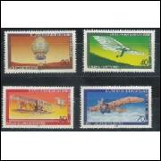 Alemanha-Berlin, 1978, Aviação de 1783 a 1910. Sem carimbo, com goma, mint. Yv. 524-527.