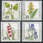 Alemanha-Berlin, 1981, Flores. Sem carimbo, com goma, mint. Yv. 611-614.