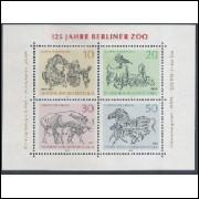 Alemanha-Berlin, 1969, Fauna. Sem carimbo, com goma, mint. Yv. Bloco 2