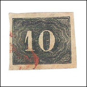 I-11 Brasil Império, 1850, 10 Réis, Olho de Cabra, Bela cor e excelentes margens. Belo exemplar.