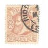 I-56 Brasil Império, 1882, 200 Réis, Dom Pedro II, Cabeça Grande, carimbado.